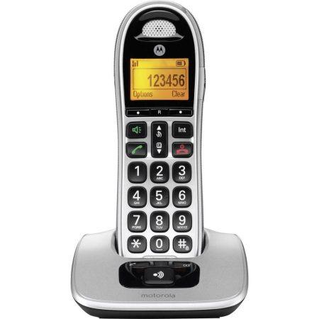 MOTOROLLA vezeték nélküli nagyméretű telefon CD301 kihangosítóval és hívószám kijelzéssel.