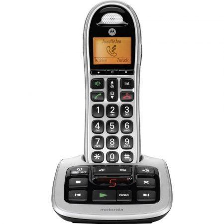 MOTOROLLA vezeték nélküli nagyméretű telefon CD311 kihangosítóval, hívószám kijelzéssel és üzenetrögzítővel.