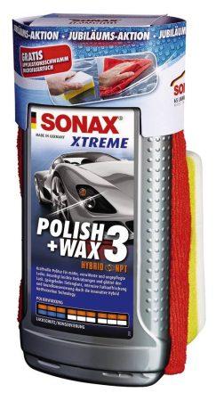 SONAX XTREME POLISH + WAX3, 500 ml, szett, 65 éves a SONAX!