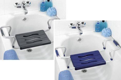 Wenko Secura fürdőkád szék, ezüst, kihúzható, max. 150 kg