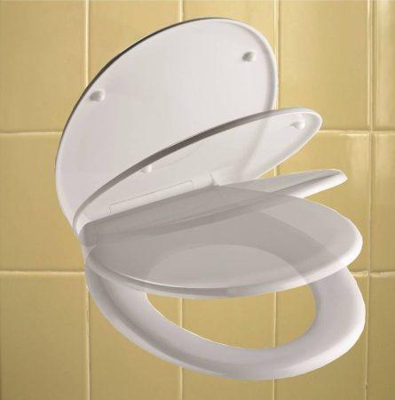 Clean line wc ülőke, duroplaszt, lecsapódásgátlós, fehér