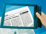 Olvasó nagyító – mellyel újságot és könyvet olvashat!
