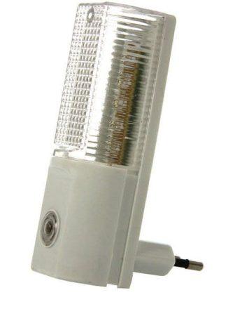 Heitronic LED éjszakai fény, 5 LED-del, szürkületi automatikával, meleg fehér fénnyel
